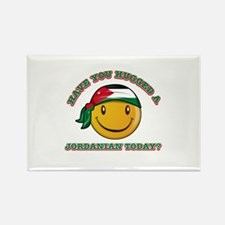 Cute Jordanian Smiley Design Rectangle Magnet