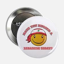 "Cute Lebanese Smiley Design 2.25"" Button (10 pack)"