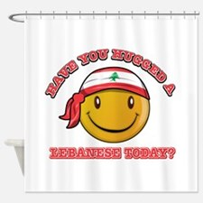 Cute Lebanese Smiley Design Shower Curtain