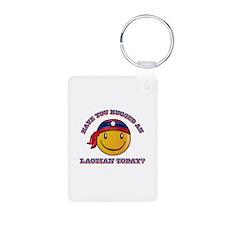 Cute Laotian Smiley Design Keychains