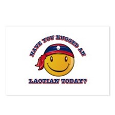 Cute Laotian Smiley Design Postcards (Package of 8