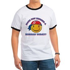 Cute North Korean Smiley Design T