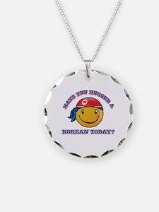 Cute North Korean Smiley Design Necklace