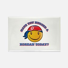 Cute North Korean Smiley Design Rectangle Magnet