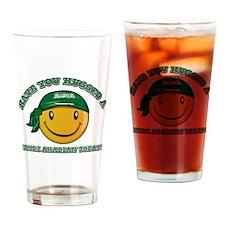 Cute Saudi Arabian Smiley Design Drinking Glass