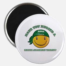 Cute Saudi Arabian Smiley Design Magnet
