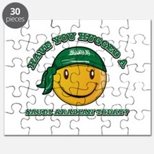 Cute Saudi Arabian Smiley Design Puzzle