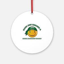 Cute Saudi Arabian Smiley Design Ornament (Round)