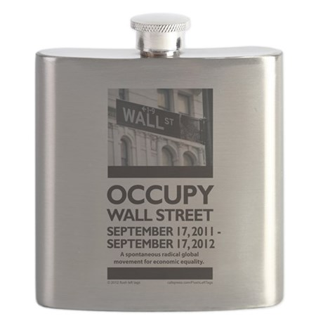 Occupy Wall St Flask