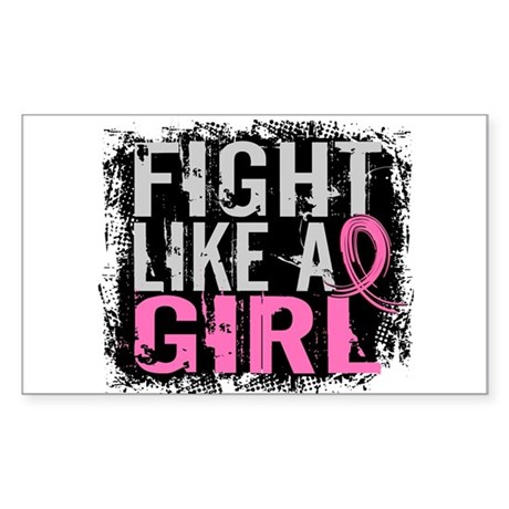 Licensed Fight Like a Girl 31. Sticker (Rectangle)