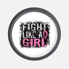 Licensed Fight Like a Girl 31.8 Wall Clock