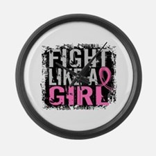 Licensed Fight Like a Girl 31.8 Large Wall Clock