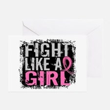 Licensed Fight Like a Girl 31.8 Greeting Card