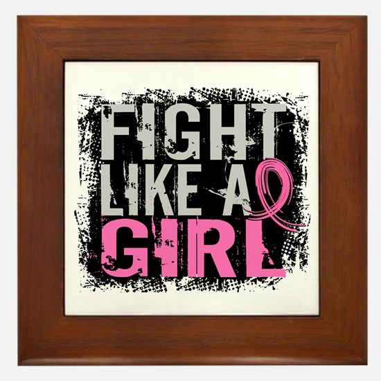 Licensed Fight Like a Girl 31.8 Framed Tile