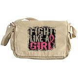 Fight like a girl Messenger Bag
