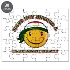 Cute Tajikistani Smiley Design Puzzle