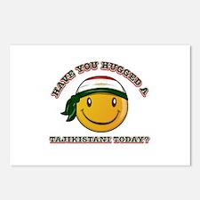 Cute Tajikistani Smiley Design Postcards (Package