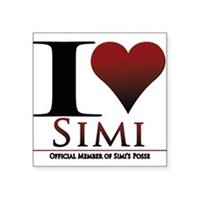 """Love Simi Square Sticker 3"""" x 3"""""""