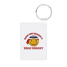 Cute Thai Smiley Design Keychains