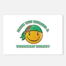 Cute Turkmen Smiley Design Postcards (Package of 8