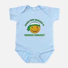 Cute Uzbek Smiley Design Infant Bodysuit