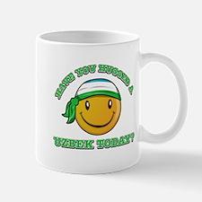 Cute Uzbek Smiley Design Mug