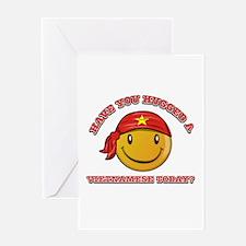 Cute Vietnamese Smiley Design Greeting Card