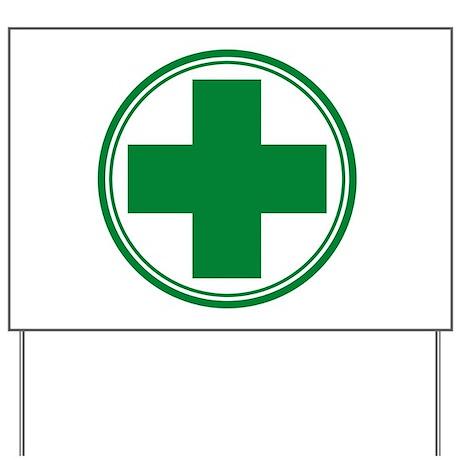 Green Cross Yard Sign