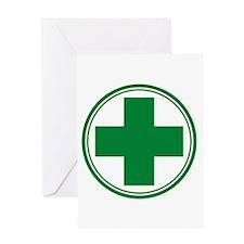 Green Cross Greeting Card