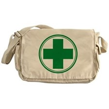 Green Cross Messenger Bag