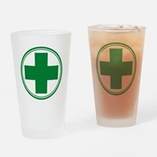 Green Cross Drinking Glass
