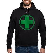 Green Cross Hoodie