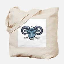 Aries Ram Head Tote Bag