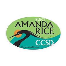 Elect Amanda Rice Oval Car Magnet