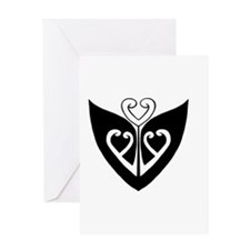 Maori Heart Butterfly Greeting Card