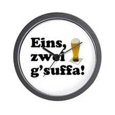 Drink Up Oktoberfest Wall Clock
