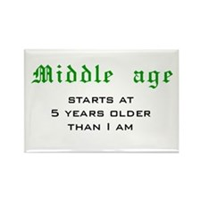 Middle Age Rectangle Magnet