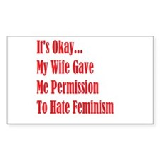 Wife's Permission Decal