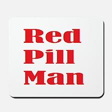 Red Pill Man Mousepad