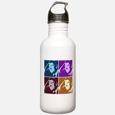 Ronald Reagan Pop Art Sports Water Bottle