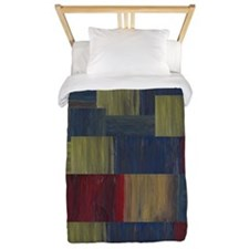 Colors Abstract Contemporary Twin Duvet