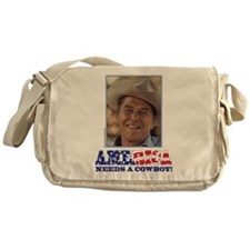 Ronald Reagan/Cowboy Messenger Bag