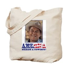 Ronald Reagan/Cowboy Tote Bag