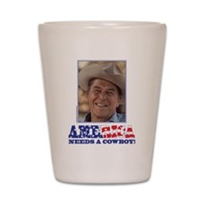 Ronald Reagan/Cowboy Shot Glass