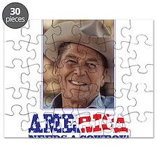 Ronald Reagan/Cowboy Puzzle