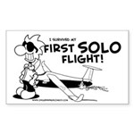 First Solo Flight (Glider) Sticker (Rectangle)