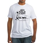 First Solo Flight (Glider) Fitted T-Shirt