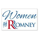 Women For Romney Sticker (Rectangle)