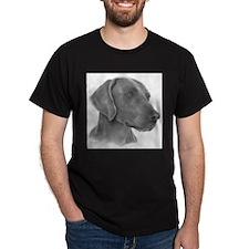 Weimeraner Black T-Shirt