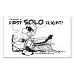 First Solo Flight (Plane) Sticker (Rectangle 10 pk